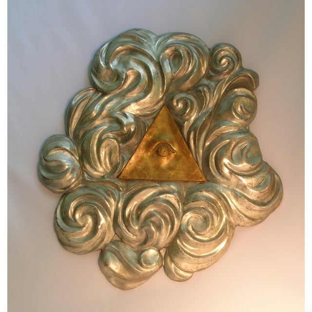 18th Century Antique Masonic Eye of Good Sculptural Wall Piece For Sale In Miami - Image 6 of 6