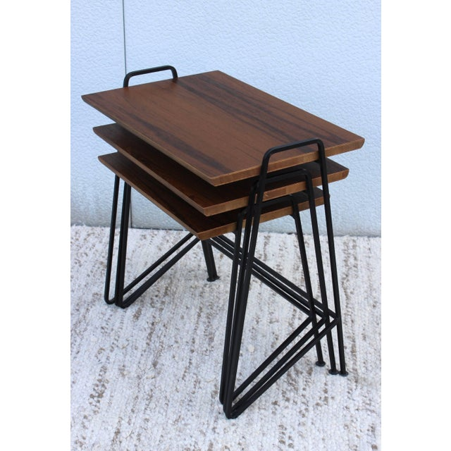 Tony Paul Modernist Nesting Tables For Sale In New York - Image 6 of 11
