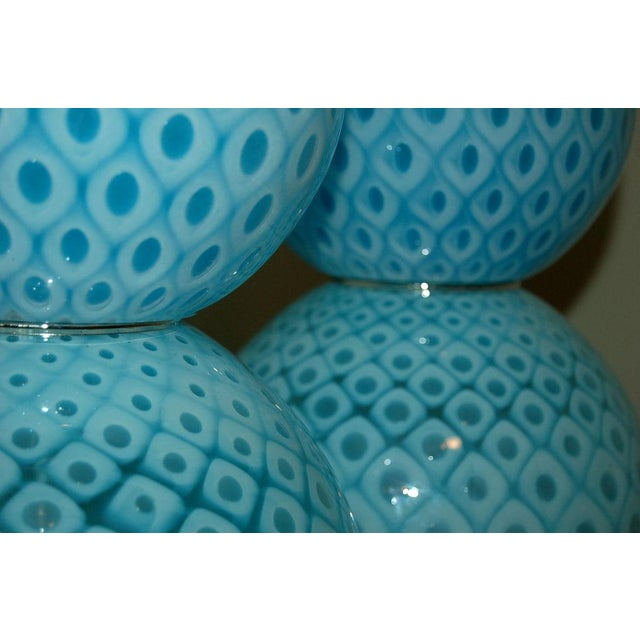 Galliano Ferro Vintage Murano Glass Table Lamps Blue For Sale In Little Rock - Image 6 of 11