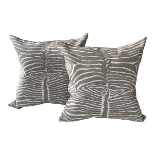 Brunschwig & Fils Le Zebre Pillows - A Pair