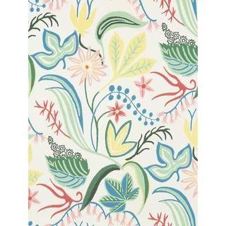 Sample, Scalamandre Saro, White Wallpaper For Sale
