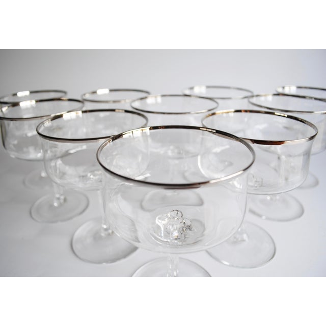 Silver Rim Champagne Coupes - Set of 10 - Image 3 of 4