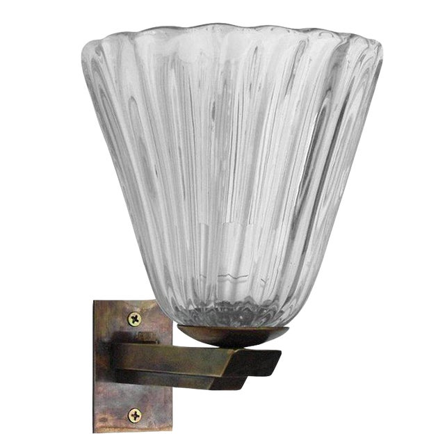 Vintage Mid Century Single Bell Sconce by Barovier E Toso Final Clearance Sale For Sale