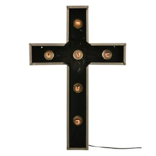 Antique Lighted Church Cross For Sale