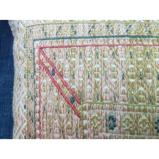 Antique Chinese Wedding Quilt Pillow - Image 5 of 6