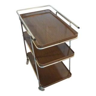 1960s Mid Century Modern Cosco Bar Cart For Sale
