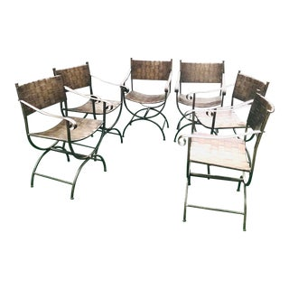 1970s Mario Papperzini Style Patio Furniture-Set of 6 For Sale