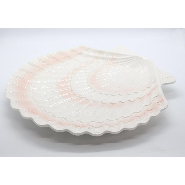 Japanese 1950's Otagiri Porcelain Scallop Shell Serving Platter From Japan For Sale - Image 3 of 6