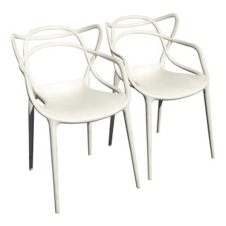 Vintage Masters by Kartell Mid-Century Modern Accent Chairs - A Pair