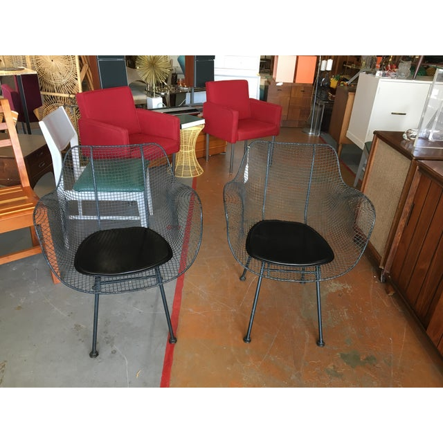 Vintage Mid-Century Biscayne Wire Armchairs - A Pair For Sale - Image 11 of 11
