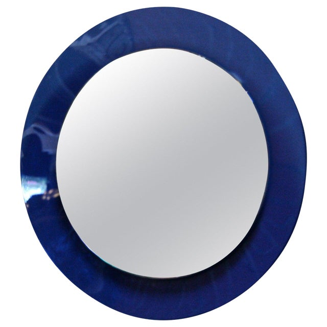 Italian 1960s Cobalt Blue Mirror For Sale