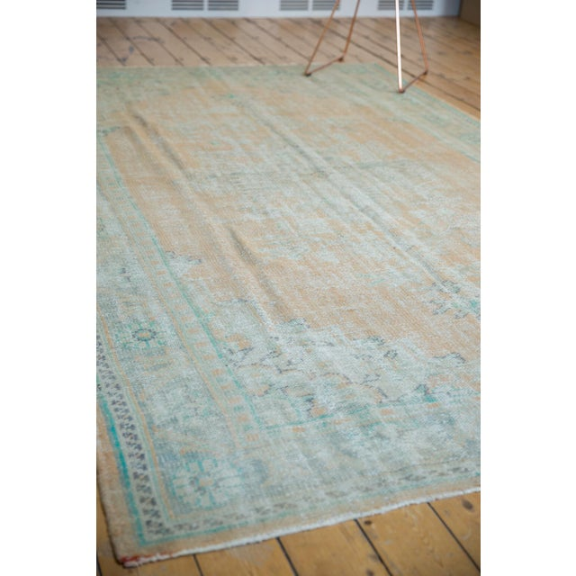 "Vintage Distressed Oushak Carpet - 6'4"" X 9'10"" For Sale - Image 9 of 12"