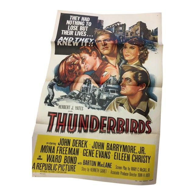 1952 Original Thunderbirds Movie Poster - Image 1 of 10