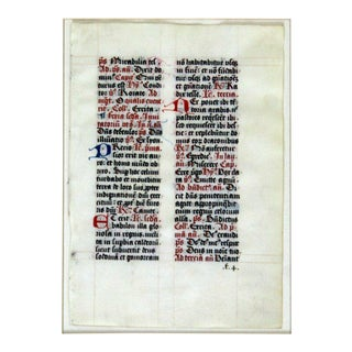 Antique Framed Brieof St. Peter France 15th Century Gouache Gold For Sale