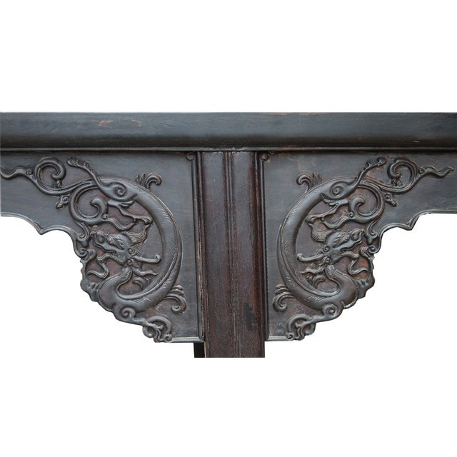 Rosewood Dragon Carving Altar Console For Sale - Image 7 of 8