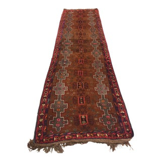Vintage Red Anatolian Rug - 4′4″ × 15′4″ For Sale