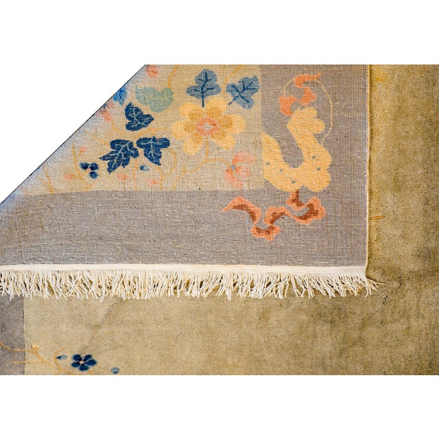 Gray Serene Chinese Art Deco Rug For Sale - Image 8 of 9