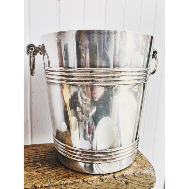A beautiful vintage circa 1960s silverplated champagne bucket/cooler made in France by Christofle. In excellent condition,...