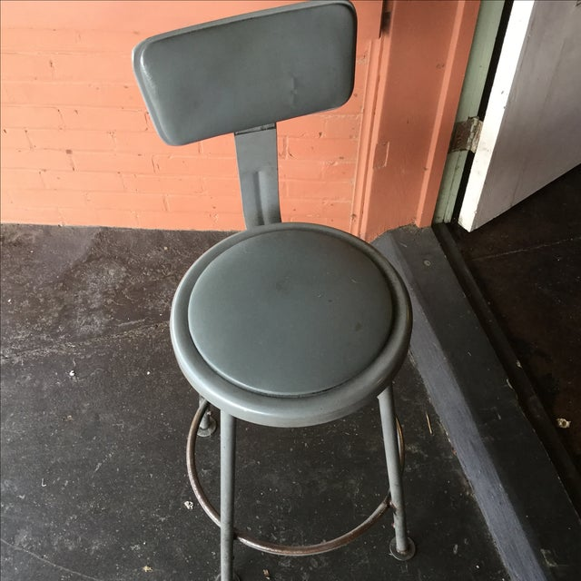 Industrial Stools - Pair - Image 4 of 7