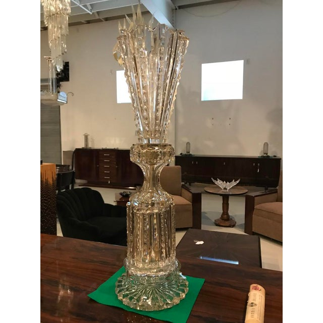 Stunning Russian imperial cut-crystal vase with accompanying paperwork dated October 23rd, 1939 from Hammer Galleries...
