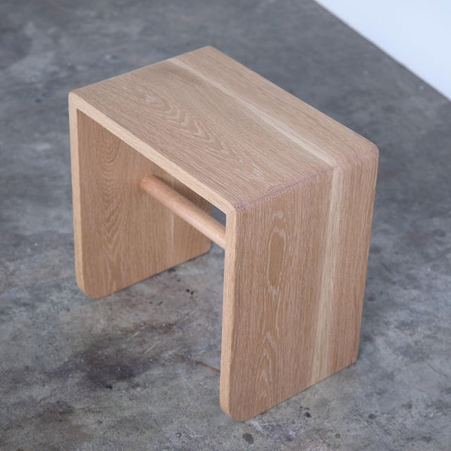 Shortcut Low Stool in White Oak For Sale In Indianapolis - Image 6 of 7