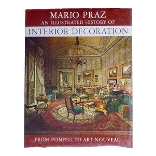 A History of Interior Decoration Book by Mario Praz For Sale