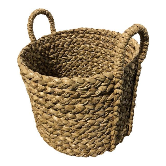 Seagrass Large Basket With Handles For Sale