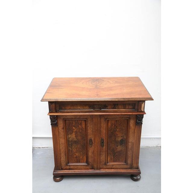 Biedermeier Style Walnut Cabinet, Germany, 1890 For Sale - Image 9 of 13