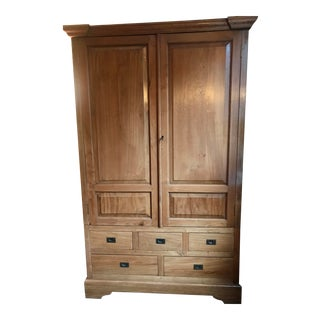 Balinese Teak Wood Armoire and Storage Unit For Sale
