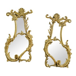 Pair of George III Giltwood Mirrors For Sale