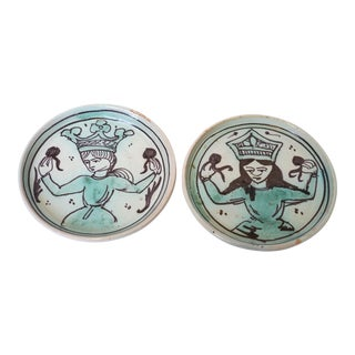 Greek Goddess Pottery Plates - Set of 2