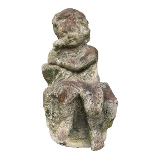 Terracotta Angel Garden Figurine For Sale