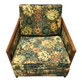 Danish-Modern Wormley Dunbar Style Sculptural Walnut Lounge Chair For Sale