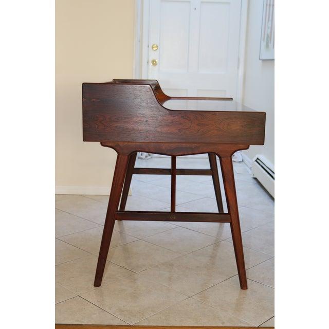 Wood Vintage Arne Wahl Iversen Model 64 Rosewood Vinde Mobelfabrik Desk For Sale - Image 7 of 13