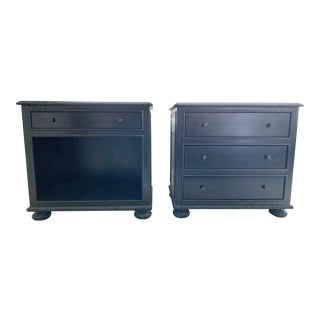 Restoration Hardware French Empire Nightstands - A Pair For Sale