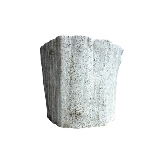 """Zachary A. Design Natural Concrete Finish Cast Resin """"Acacia"""" Chair For Sale - Image 4 of 8"""