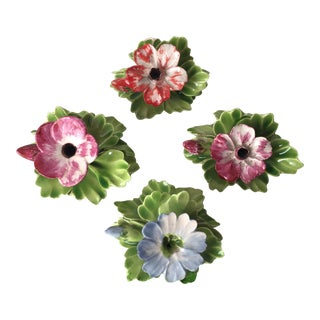 Capodimonte Vintage Floral Place Card Holders - Set of 4