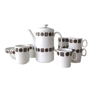 Vintage Mid-Century Barker Brothers Coffee Tea Set- 8 Pieces For Sale