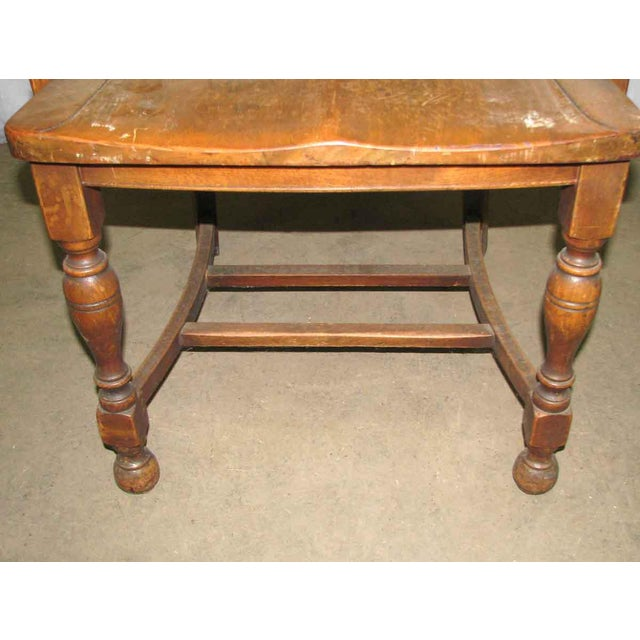 Scalloped Back Banker's Chair For Sale - Image 6 of 9