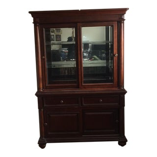 Cherry Lighted China Cabinet