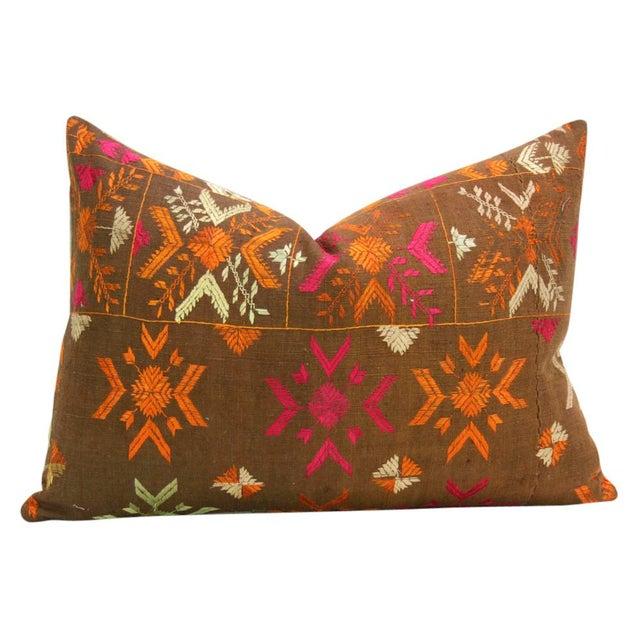 Akruthi Phulkari Pillow, Pair - Image 4 of 5