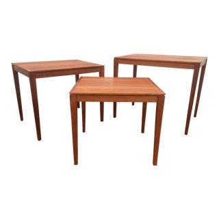 Bent Silberg Mobler Teak Nesting Tables - Set of 3 For Sale