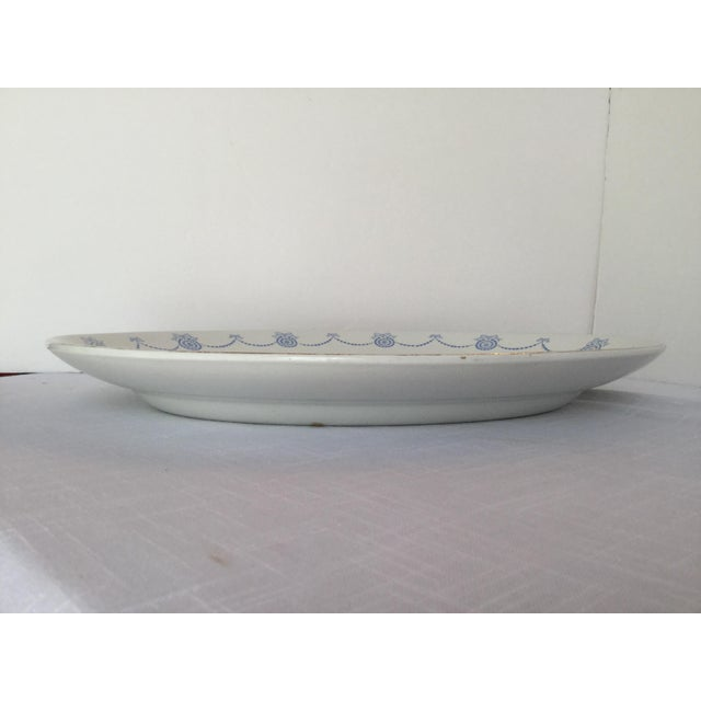 Traditional Blue & White Oval Imperial Porcelain Platter For Sale - Image 3 of 13