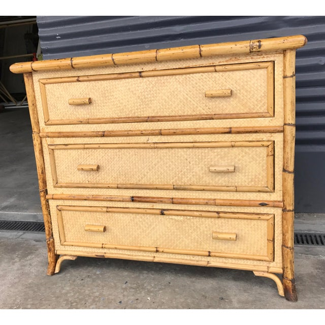 Calif-asia Calif-asia Vintage Rattan Chest of Drawers For Sale - Image 4 of 11