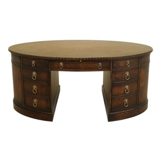 Councill Craftsmen Oval Leather Top Executive Office Desk For Sale