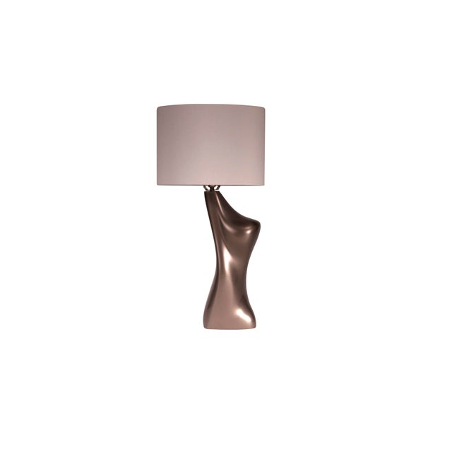 Contemporary Helen Table Lamp - Metallic Dark Gold For Sale - Image 3 of 7