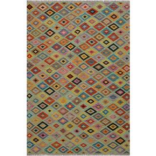 Kilim Arlene Hand-Woven Wool Rug -6'8 X 9'9 For Sale