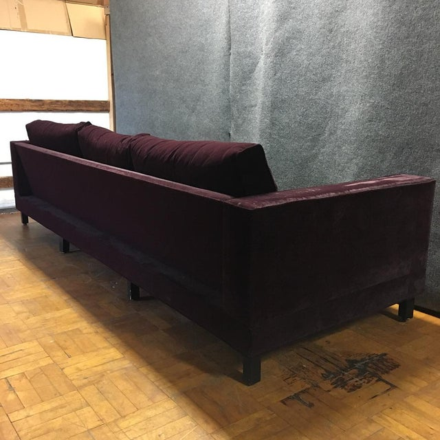 Dialogica Purple Velvet 10-Foot Custom-Made Sofa - Image 11 of 11