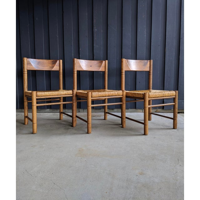 Charlotte Perriand Charlotte Perriand-Style Vico Magistretti-Style Rush Chairs, Set of 8 For Sale - Image 4 of 12