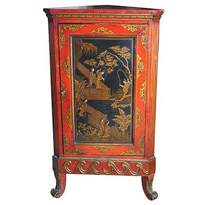 Chinoiserie Corner Cabinet For Sale